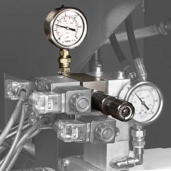 Optional: Schraubstock-Druckregulierung
