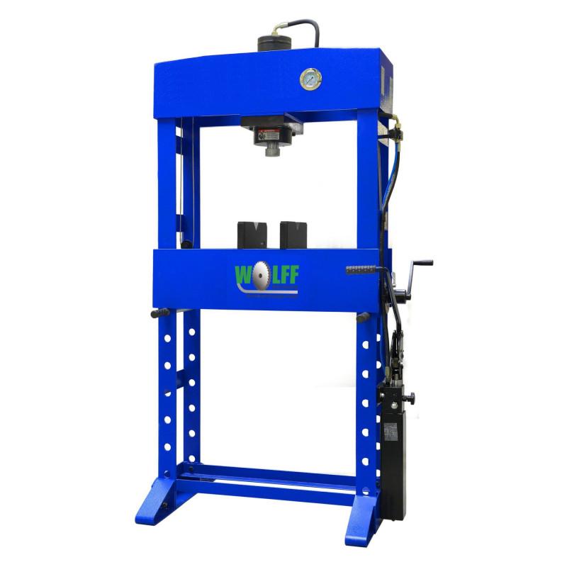 Werkstattpresse 30 TON HF2, hand- und fussbediente Werkstattpresse 30 to.