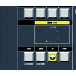 Bedientafel mit Soft-Touch-Tastatur und Display