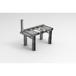 KK - Rollenbahn mit optionaler vertikaler Rolle zur Materialführung